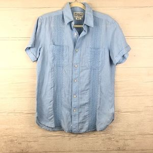 Lucky Brand Short Sleeve Casual Button Down Size S